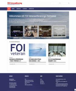 FOI veteraner Hemsida WordPress