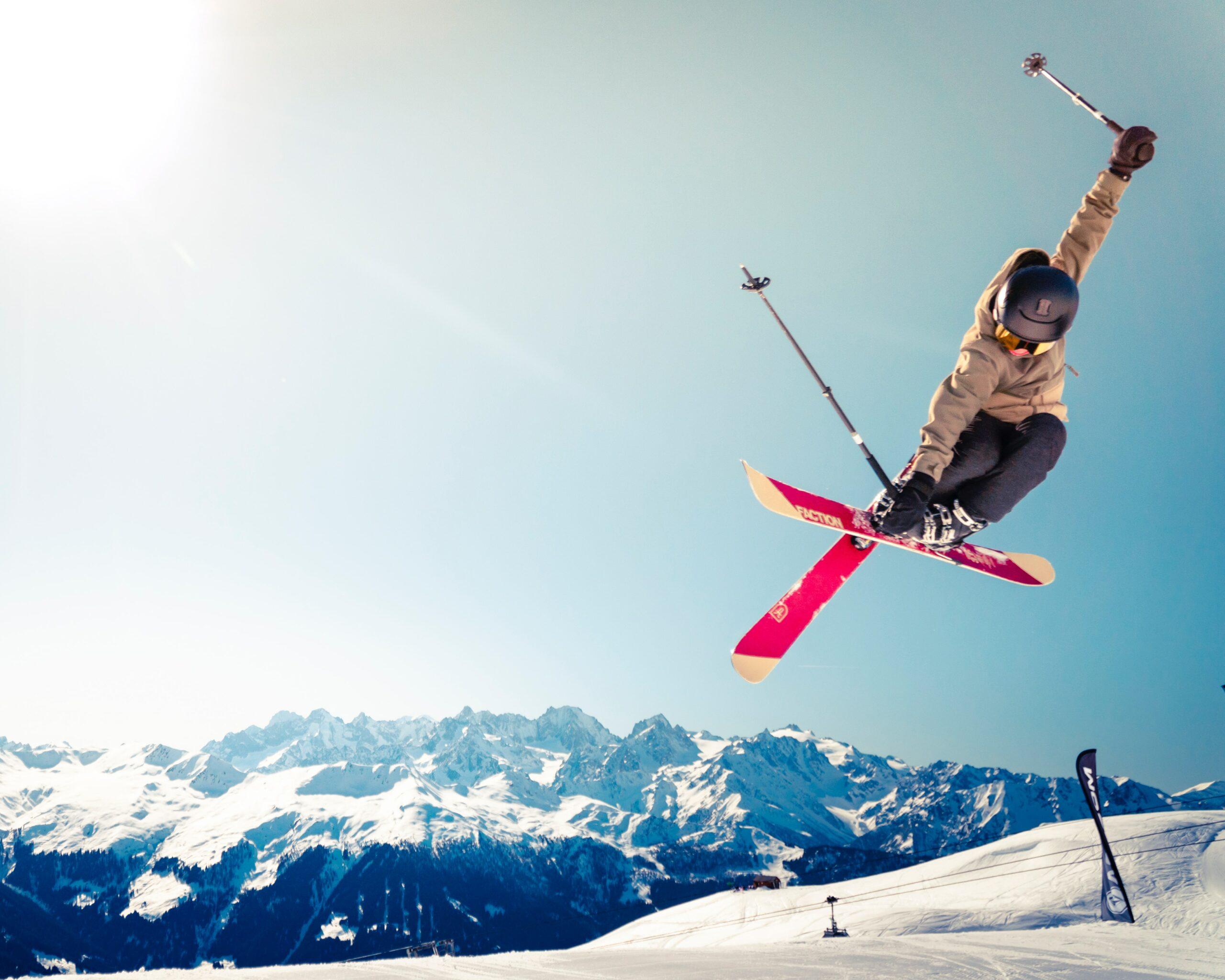 Skidor in action. Foto av Sebastian Staines
