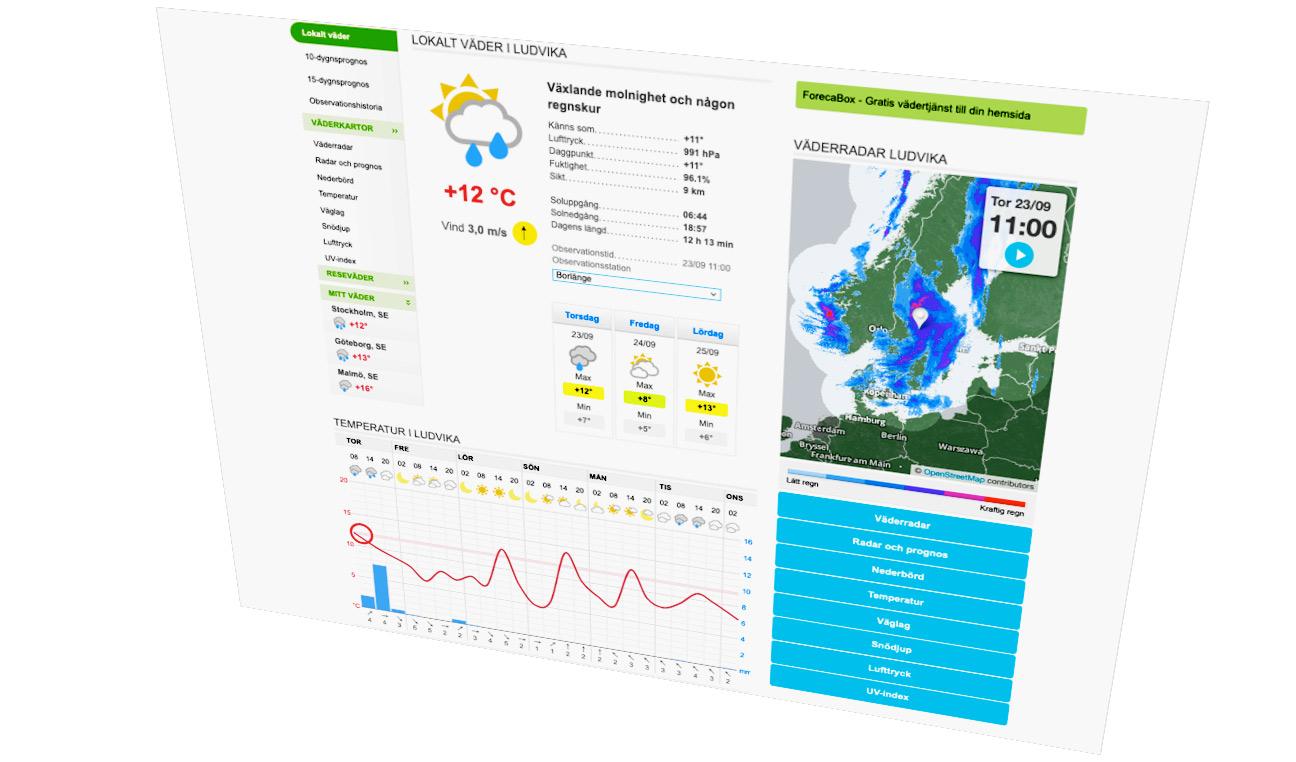Väder Weather Web